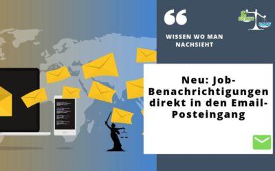 Neu: Job-Benachrichtigungen direkt in den Email-Posteingang