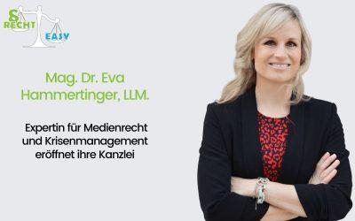Mag. Dr. Eva Hammertinger, LLM. – Die Unternehmensberaterin und Expertin für Medienrecht und Krisenmanagement gründet ihre eigene Rechtsanwaltskanzlei