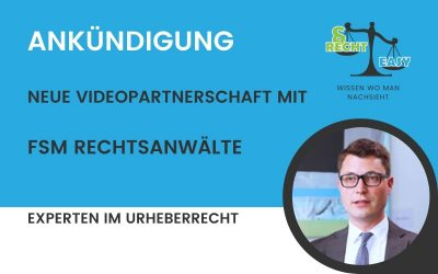 Neue Videos für das Rechtsgebiet Urheberrecht verfügbar