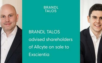 BRANDL TALOS berät Gesellschafter von Allcyte beim Verkauf an Exscientia
