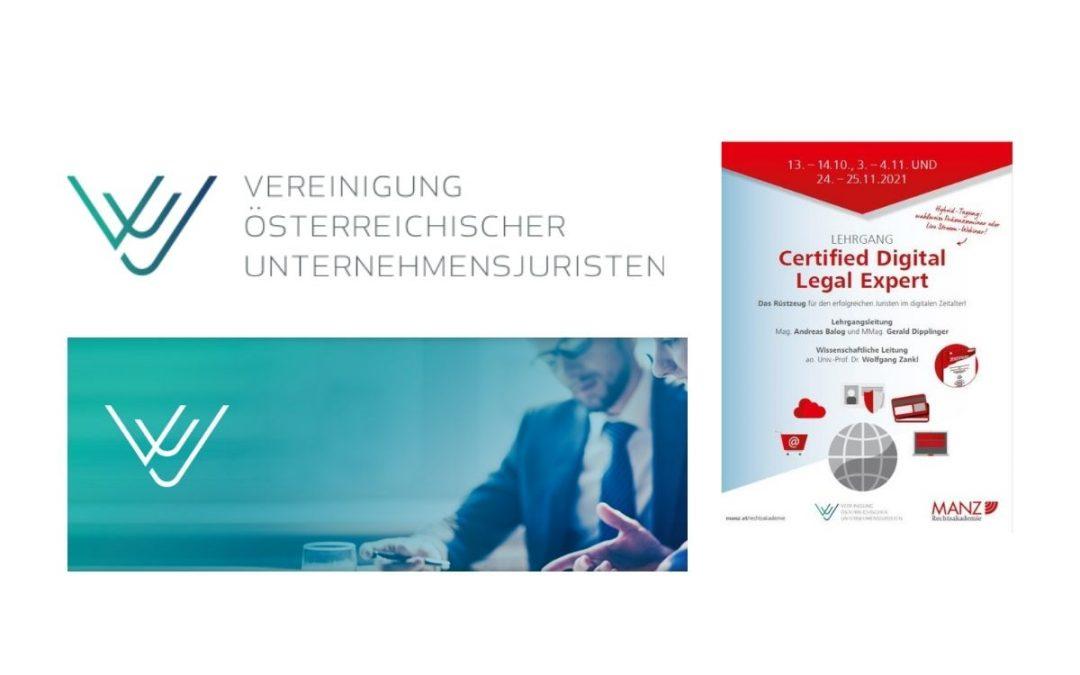 Lehrgang Certified Digital Legal Expert 2021