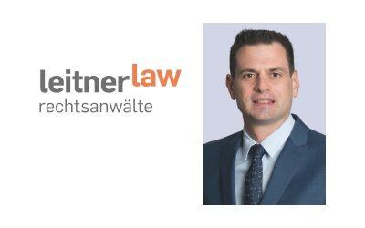 Neuer Rechtsanwalt bei LeitnerLaw Rechtsanwälte