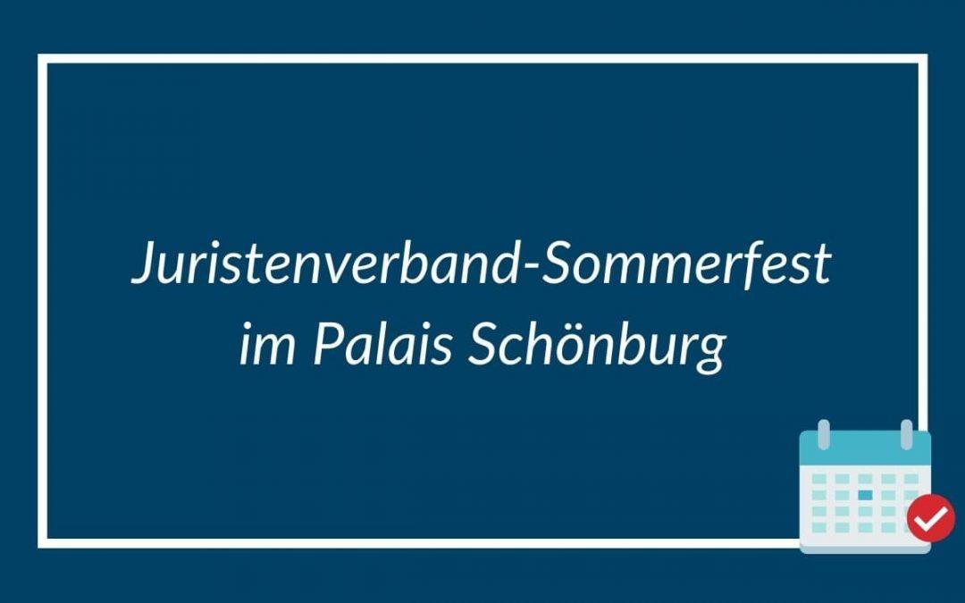 Juristenverband-Sommerfest im Palais Schönburg