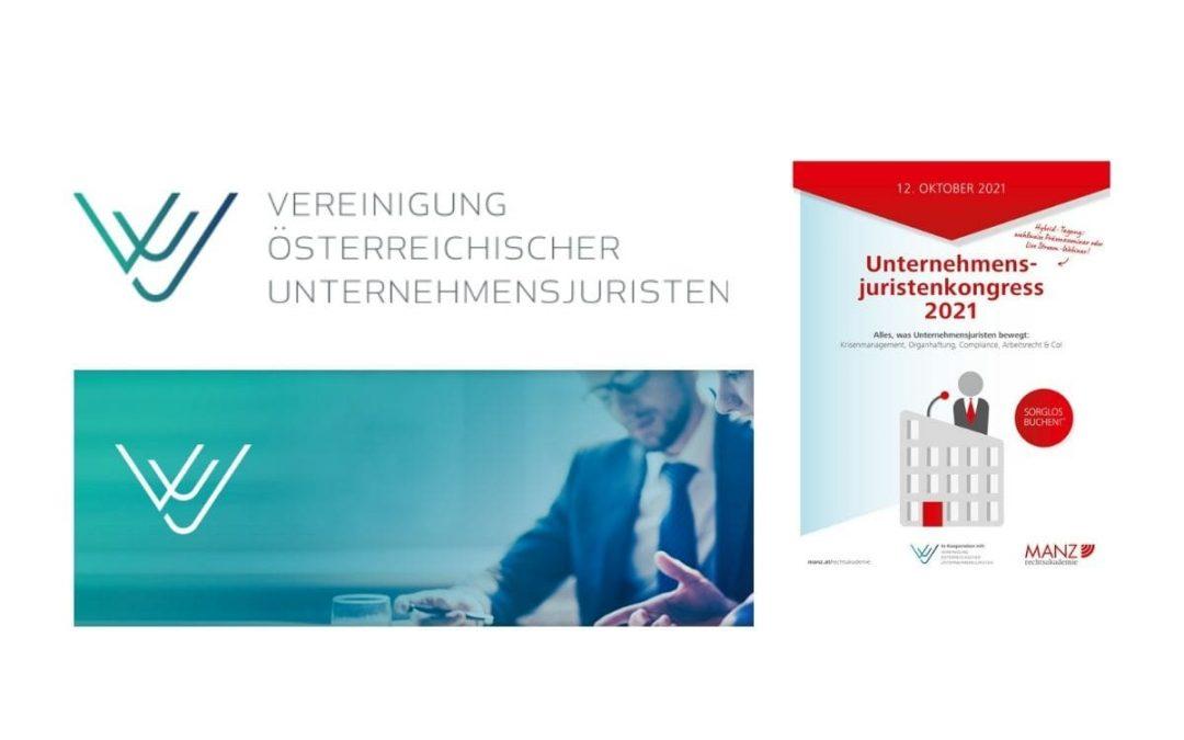 Unternehmensjuristenkongress am 12. Oktober 2021